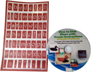 Reusable Glass Etching Stencils, Lower Case Letters + How to Etch & Patterns CD