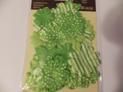 Recollections Bright Patterned Flowers - Green & White