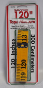 Quilters Choice Tape Measure 300cm Yellow Fibreglass 12058