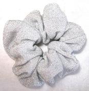 White and Silver Sparkly Ponytail Holder-Regular