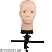 Dreambeauty Soft Viny Manikin Head Multi-purpose with C clamp