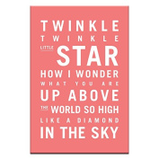 Artist Lane 08TV - P2633 Twinkle, Twinkle Little Star Canvas Artwork by Nursery Art, 12 by 46cm by 3.8cm