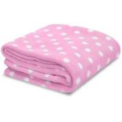 Little Starter Toddler Blanket, Pink Dot, Super Soft and Lightweight, Machine Washable