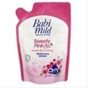 Good Seller ! Babi Mild Cream Bath Sweety Pink Plus Refil 400ml.