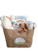 Harmony 8-piece Unisex Newborn Natural Layette Combo Gift Set- Organic Fair Trade