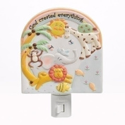 Roman Inc. 15cm h GOD Created Everything Wall Night Light