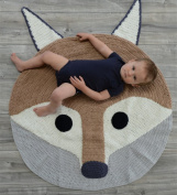 Fox Playmat Handmade From Softest Cottons for Baby in Fun Designs Crochet Blanket