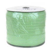 Lime Chevron on White 300yd Giant Roll 1.6cm Fold Over Elastic