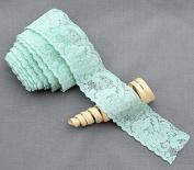 10 Yards Mint Green 3.8cm Elastic Lace Lace Elastic Lace Trim Elastic Headband Bridal Garter Baby Hairbow Ties DIY EL046