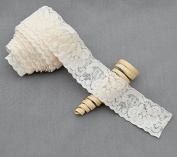 10 Yards Ivory Elastic Lace 3.8cm Stretch Lace Elastic Lace Trim Elastic Headband Bridal Garter Baby Hairbow EL050