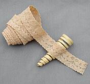 10 Yards Beige Tan Elastic Lace 2.5cm Stretch Lace Elastic Lace Trim Elastic Headband Bridal Garter Baby Hairbow Tie DIY EL053
