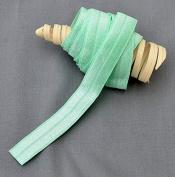 10 Yards Mint Green 5/8 Fold Over Elastic Shinny Foldover Elastic Cord Elastic Headband Elastic Lace FOE Hair Bow Ties DIY EL004