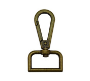 Tianbang Bronze 2.5cm Inside Diameter D Ring Lobster Clasp Claw Swivel Eye Lobster Snap Clasp Hook for Strap Pack of 4