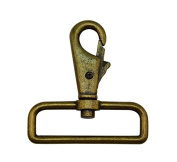 Tianbang Bronze 5.1cm Inside Diameter D Ring Lobster Clasp Claw Swivel Eye Lobster Snap Clasp Hook for Strap Pack of 4