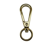 Tianbang Golden 1.1cm Inside Diameter Oval Ring Lobster Clasp Claw Swivel Eye Lobster Snap Clasp Hook for Strap Pack of 6