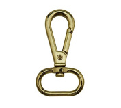 Tianbang Golden 2cm Inside Diameter Oval Ring Lobster Clasp Claw Swivel Eye Lobster Snap Clasp Hook for Strap Pack of 6