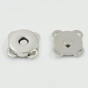 "25 Sets 18mm 3/4"" Magnetic Snap purse Plum flower Clasps Button Bag Nickle"