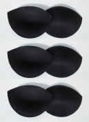 3 Pairs Black Push Up Bra Pads, Enhancement Inserts
