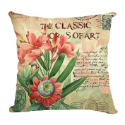 Hflove European Sunflower Flower Cotton Pillow Sofa Cushion