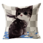 Hflove Japanese Cartoon Pet Cat Pillow Head of a Bed Cushion