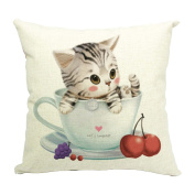 Hflove Cute Animals Cats Combination Sofa Cushion Office Pillows