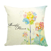 Hflove Hand-painted Rural Aesthetic Cotton and Linen Pillow