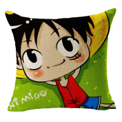 Hflove Creative Japanese Animation Cartoon One Piece Luffy Cotton Pillow