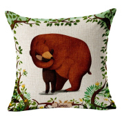 Hflove Cartoon Animal Brown Parental Bear Cotton Pillow