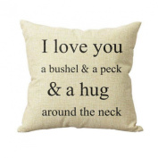 "17.7*45cm Lyric Cute Words Pattern,""i love you"" Romantic Pillow Case"