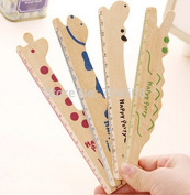 Cute Animal Ruler Stationery Wood Ruler Sewing Ruler ~1pc~
