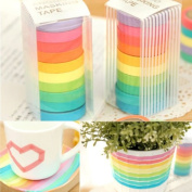 Craft Tape Glue Measures Rolls Washi Tape Colourful Scrapbook Decorative Paper Adhesive Sticker Wrapping Gift Christmas Decor 1 Set of 10 Pcs
