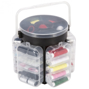 Everyday Home 210 Piece Sewing Kit Deluxe Caddy, Black