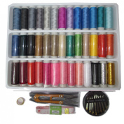 High Quality 39 Colours Polyester Excellent Sewing Textile Embroidery Thread Spools Machine Sewing Kit +Sewing Needle kit