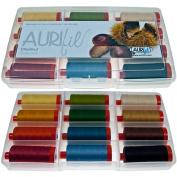 Aurifil Chestnut Collection Thread Kit 50wt 12 Large (1422 yard) Spools Aurifil