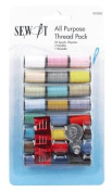 Birch 053302 | Polyester Sew It Basic Shades Sewing Thread | 2286cm x 24 Reels