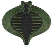 Iron on Camo Green Gi JOE Cobra Logo Patch Tactical Morale Patch By Patch World