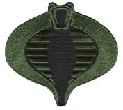 Iron on Camo Green Gi JOE Cobra Logo Patch Tactical Morale Patch By Patch World