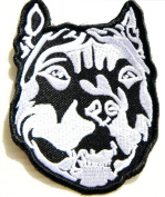 Pitbull Dog Pet Rider Biker Tatoo Jacket T-shirt Patch Sew Iron on Embroidered Sign Badge Costume