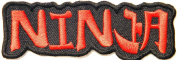 Japanese Ninja Samurai Cross Sword Punk Rock Lady Rider Biker Tatoo Kid Jacket T-shirt Patch Sew Iron on Embroidered Sign Badge Costume