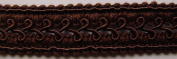 Essential Trimmings ET512/0805 | Brown Gimped Rayon Braid Trim | 22mm x 12.5m