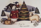 Joy to the World - Impulse Craft Iron on Transfer Snowman Sheep Rabbit
