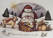 Heavenly Peace to All - Impulse Craft Iron on Transfer Snowman Sheep Rabbit