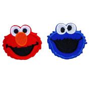 Cookie Monster Sesame Street Cartoon Iron on Patch Logo Fabric Applique