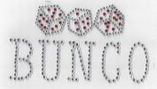 Bunco Rhinestone Iron On Heat Press Crystal MOTIF