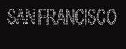 SAN Francisco Word Rhinestone Iron on Transfer