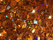 Sequins 6mm 1000/Pkg Crazy Dots Finish Orange