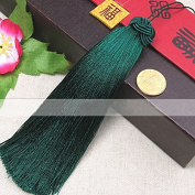 Joe Foreman Tassels Pendant for DIY Jewellery Making Dark Green 13cm