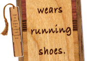 Princess Wears Running Shoes Quote Wooden Bookmark with Tassel