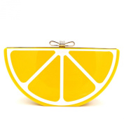 Women Acrylic Lemon Evening Bags Purses Clutch Vintage Banquet Handbag