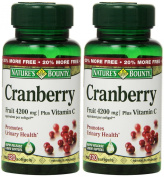 Nature's Bounty Cranberry Fruit 4200 mg, Plus Vitamin C, 120 Softgels